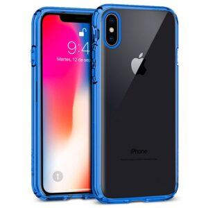 Carcasa IPhone X / IPhone XS Borde Metalizado (Azul)