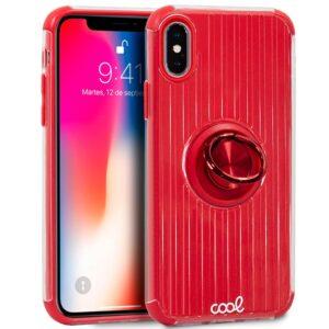 Carcasa IPhone X / IPhone XS Hard Anilla Rojo