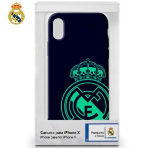 Carcasa IPhone X / IPhone XS Licencia Fútbol Real Madrid Marino