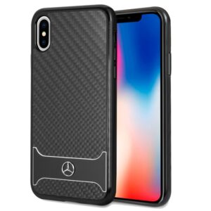 Carcasa IPhone X / IPhone XS Licencia Mercedes-Benz Carbón Negro