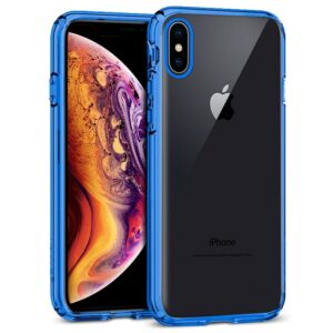 Carcasa IPhone XS Max Borde Metalizado (Azul)