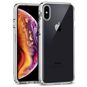 Carcasa IPhone XS Max Borde Metalizado (Plata)