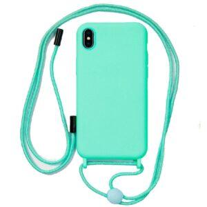 Carcasa IPhone XS Max Cordón Liso Mint