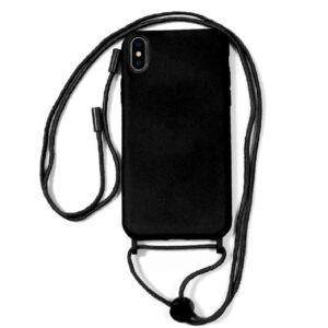 Carcasa IPhone XS Max Cordón Liso Negro