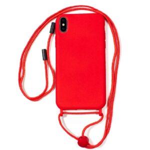 Carcasa IPhone XS Max Cordón Liso Rojo