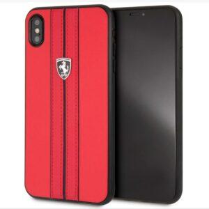 Carcasa IPhone XS Max Licencia Ferrari Piel Rojo