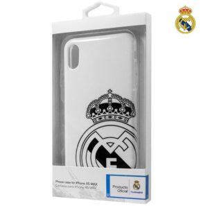 Carcasa IPhone XS Max Licencia Fútbol Real Madrid Escudo
