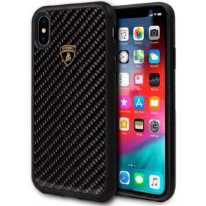 Carcasa IPhone XS Max Licencia Lamborghini Carbono Negro