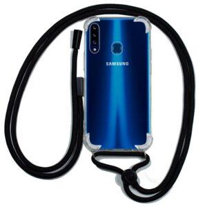 Carcasa Samsung A207 Galaxy A20s Cordón Negro