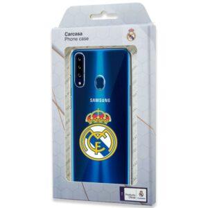 Carcasa Samsung A207 Galaxy A20s Licencia Fútbol Real Madrid Transparente