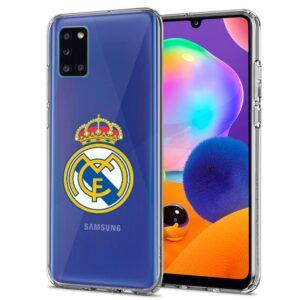 Carcasa Samsung A315 Galaxy A31 Licencia Fútbol Real Madrid Transparente