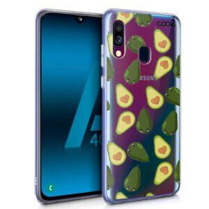 Carcasa Samsung A405 Galaxy A40 Clear Aguacates