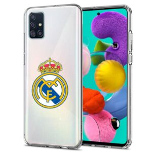 Carcasa Samsung A515 Galaxy A51 Licencia Fútbol Real Madrid Transparente