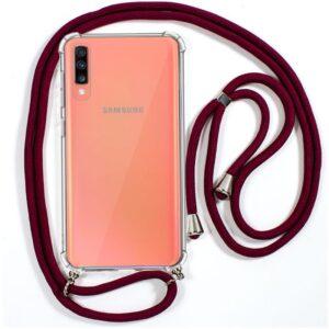 Carcasa Samsung A705 Galaxy A70 Cordón Granate