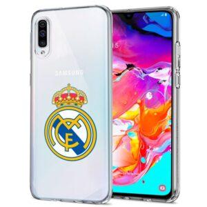 Carcasa Samsung A705 Galaxy A70 Licencia Fútbol Real Madrid Transparente