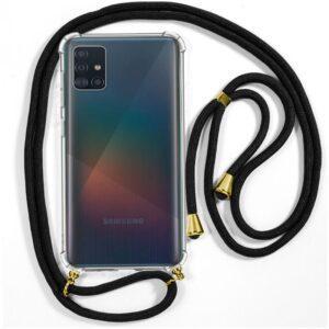 Carcasa Samsung A715 Galaxy A71 Cordón Negro