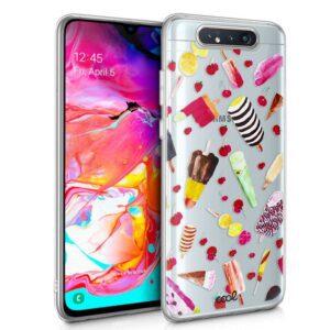 Carcasa Samsung A805 Galaxy A80 Clear Helados
