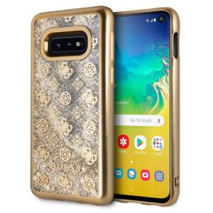 Carcasa Samsung G970 Galaxy S10e Licencia Guess Liquid Dorado