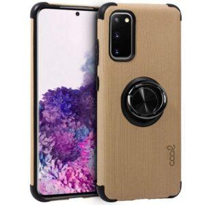 Carcasa Samsung G980 Galaxy S20 Hard Tela + Anilla (Beige)