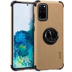 Carcasa Samsung G985 Galaxy S20 Plus Hard Tela + Anilla (Beige)