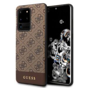 Carcasa Samsung G988 Galaxy S20 Ultra 5G Licencia Guess Tela Marrón
