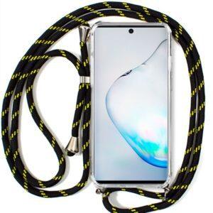 Carcasa Samsung N970 Galaxy Note 10 Cordón Negro-Amarillo
