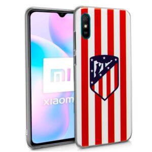 Carcasa Xiaomi Redmi 9A / 9AT Licencia Fútbol Atlético De Madrid