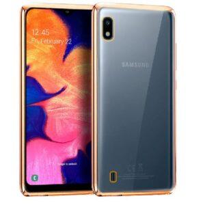 Carcasa Samsung A105 Galaxy A10 Borde Metalizado Dorado