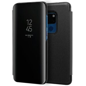 Funda Flip Cover Huawei Mate 20 Clear View Negro