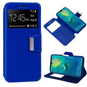 Funda Flip Cover Huawei Mate 20 Liso Azul