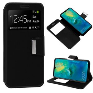 Funda Flip Cover Huawei Mate 20 Liso Negro