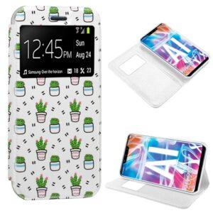 Funda Flip Cover Huawei Mate 20 Lite Dibujos Cactus
