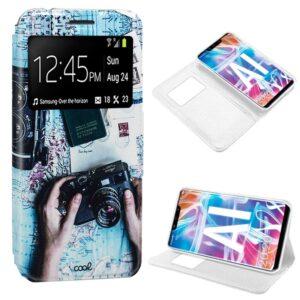 Funda Flip Cover Huawei Mate 20 Lite Dibujos Travel