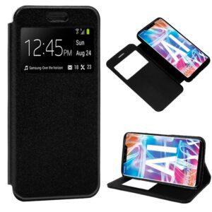Funda Flip Cover Huawei Mate 20 Lite Liso Negro