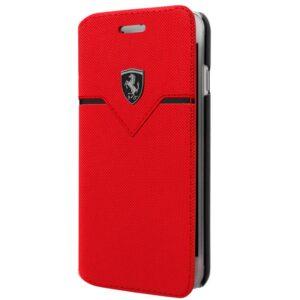 Funda Flip Cover IPhone 6 / 7 / 8 / SE (2020) Licencia Ferrari Rojo