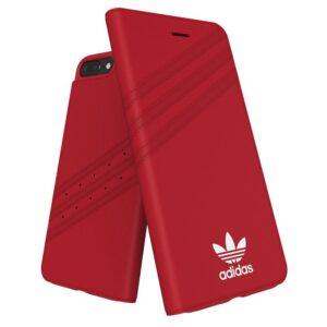 Funda Flip Cover IPhone 6 Plus / IPhone 7 Plus / 8 Plus Licencia Adidas Rojo