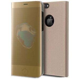 Funda Flip Cover IPhone 7 / 8 / SE (2020) Clear View Dorado