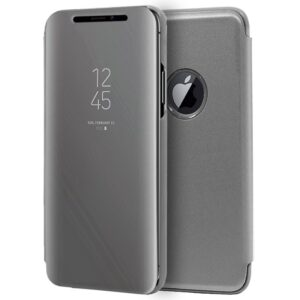 Funda Flip Cover IPhone XS Max Clear View Plata