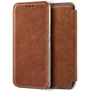Funda Flip Cover IPhone XS Max Leather Marrón