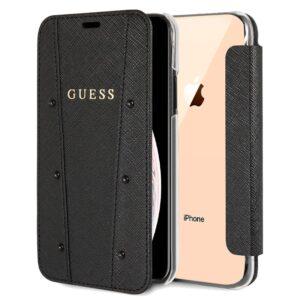 Funda Flip Cover IPhone XS Max Licencia Guess Negro