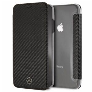 Funda Flip Cover IPhone XS Max Licencia Mercedes-Benz Negro