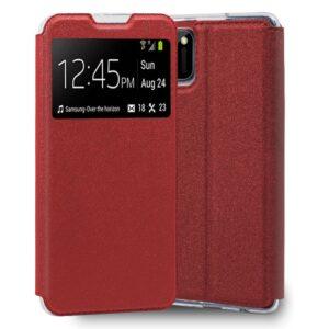 Funda Flip Cover Realme C11 Liso Rojo
