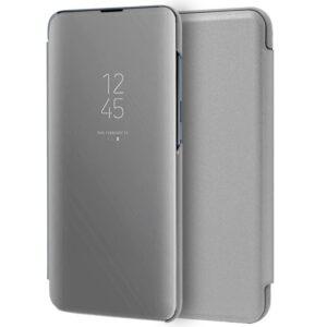 Funda Flip Cover Samsung A105 Galaxy A10 Clear View Plata