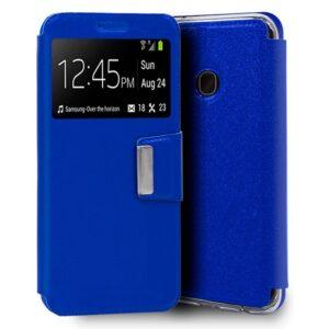 Funda Flip Cover Samsung A202 Galaxy A20e Liso Azul