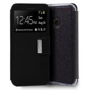 Funda Flip Cover Samsung A202 Galaxy A20e Liso Negro