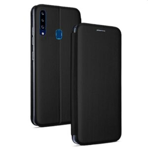 Funda Flip Cover Samsung A207 Galaxy A20s Elegance Negro