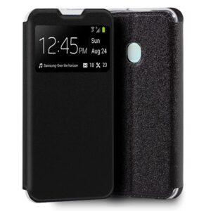 Funda Flip Cover Samsung A217 Galaxy A21s Liso Negro