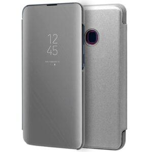 Funda Flip Cover Samsung A405 Galaxy A40 Clear View Plata
