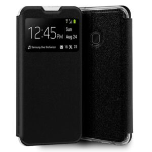 Funda Flip Cover Samsung A405 Galaxy A40 Liso Negro