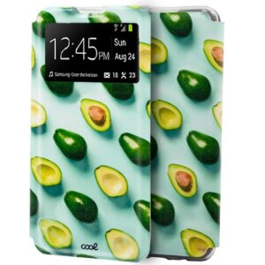 Funda Flip Cover Samsung A415 Galaxy A41 Dibujos Aguacates